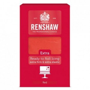 Renshaw Rolled Fondant EXTRA 1 kg -Red-