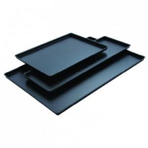 Black cast iron look tray  400 x 300 mm
