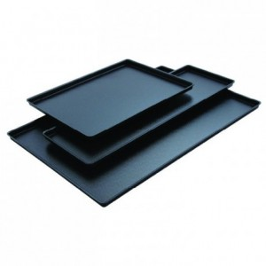 Black cast iron look tray  580 x 195 mm