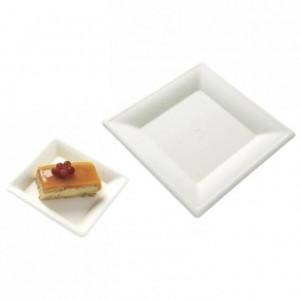 Square fibre plate biodegradable 205 mm (500 pcs)