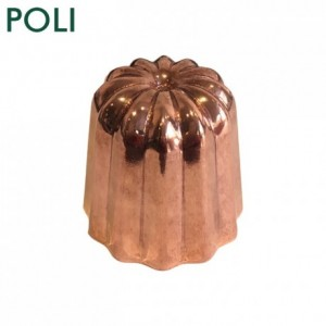 Mould for cannelés polished copper Ø 35 mm
