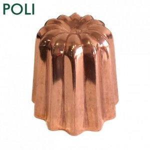 Mould for cannelés polished copper Ø 45 mm