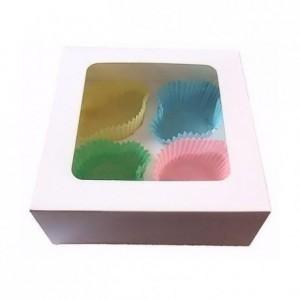 PastKolor cupcake box for 4 cupcake