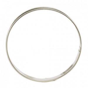 Cercle à tarte en inox Ø 260 mm H 27 mm