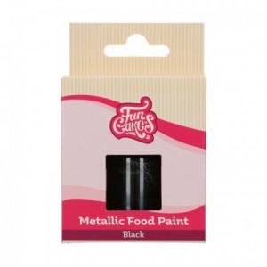 FunCakes Metallic Food Paint Black30 ml