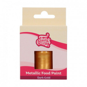 FunCakes Metallic Food Paint Dark Gold30 ml