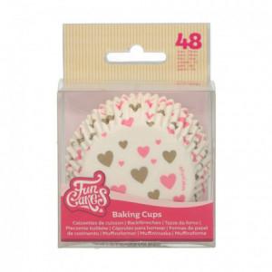 FunCakes Baking Cups Hearts pk/48
