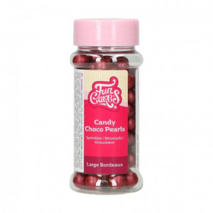 FunCakes Candy Choco Pearls Large Bordeaux 70 g