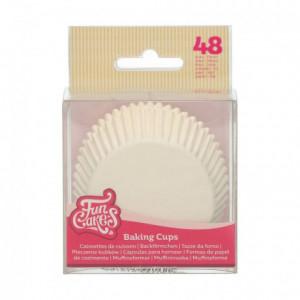 FunCakes Baking Cups White pk/48