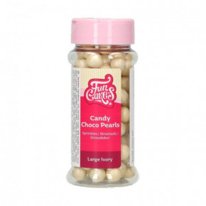 FunCakes Candy Choco Pearls Large Ivory 70 g