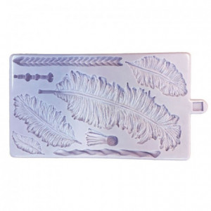 Karen Davies Silicone Mould - Native Feathers