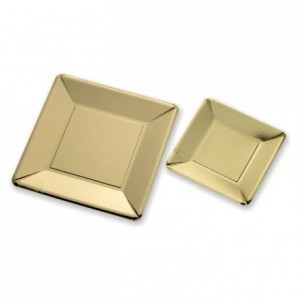 Gold cardboard plate (250 pcs)