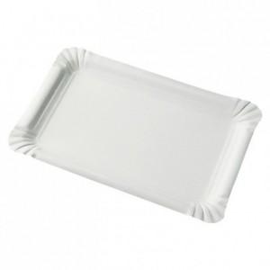 Paper cardboard plate rectangular recycle white FSC® - ACC - 023 210 x 300 mm (250 pcs)