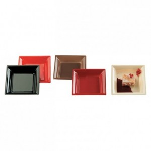 Square red plate in PS 167 x 167 mm (240 pcs)