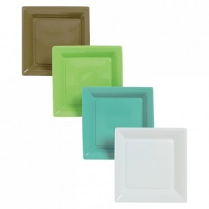 Square taupe plate in PS 167 x 167 mm (240 pcs)
