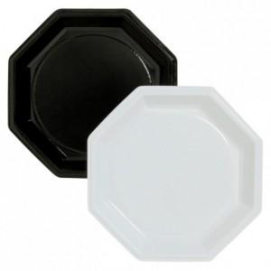 Octogonale black plate in PS Ø 245 mm (400 pcs)