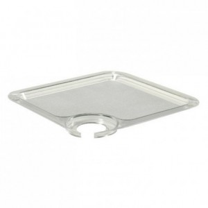 Garden party tray-plate in translucent PS 200 x 200 mm (10 pcs)
