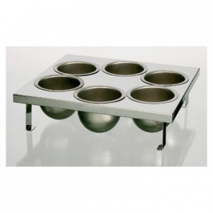 6-mould tray for air-heated dipping machines