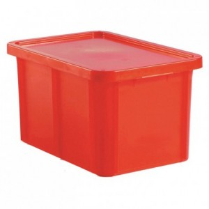 Container with lid 35 L red
