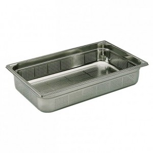 Perforated container without handle stainless steel GN 1/1 H 55 mm