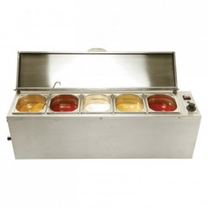 Chafing dish for sauces GN 1/6