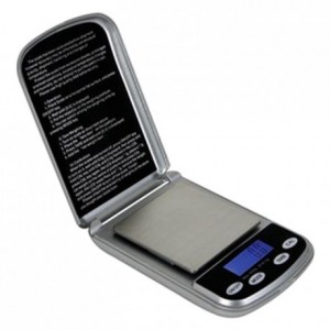 Electronic pocket scale 500 g weighs 0.1 g