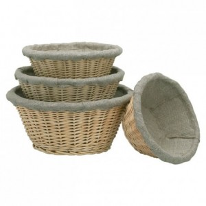 Fermenting round dough basket  with cloth Ø 210 mm