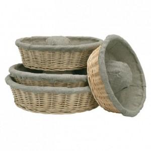 Fermenting crown dough basket with cloth Ø 260 mm