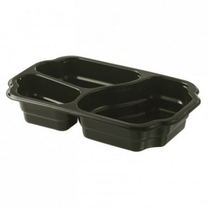 3 compartments take away container 610 + 380 + 210 mL (246 pcs)