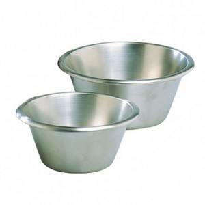 Flat-bottom pastry mixing bowl stainless steel Ø 200 mm