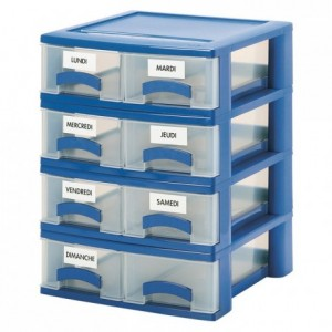 2-drawer sample meal container 395 x 402 x 140 mm
