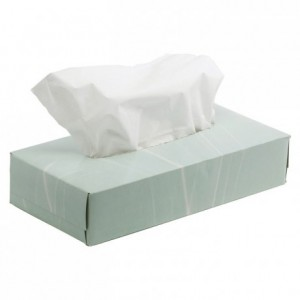 Box of 100 white tissues (36 pcs)