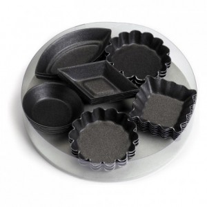 Petits-fours moulds box set 30 pcs 6 assorted models non-stick