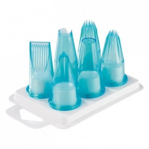 Box set of 6 pcs fluted tips polycarbonate