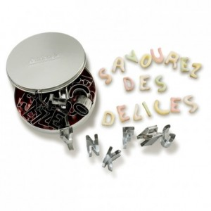 Alphabet biscuits cutter stainless steel (26 pcs)