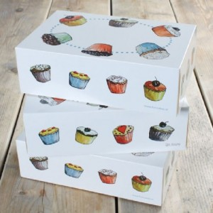 FunCakes Cupcake Box 6 Cupcakes 24x16x8cm + insert pk/3