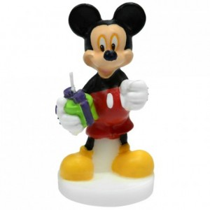 Mickey-shaped candle