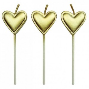 PME Candles Gold Hearts Pk/8