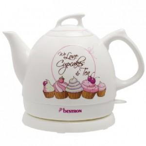 Bestron Sweet Dreams Ceramic Jug kettle Cupcake