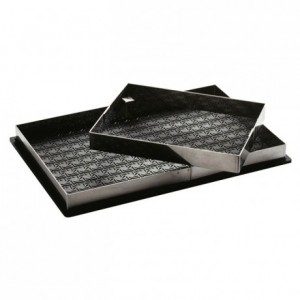 Entremets frames for relief mat stainless steel 550 x 355 mm