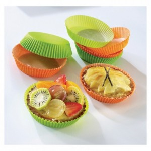 Coloured round pastry case anis n°1207F70 Ø 70 mm (1000 pcs)