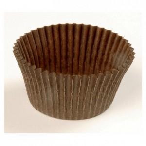 Round pastry case brown n°5 Ø 28 mm (1000 pcs)