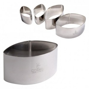 Calisson cutter stainless steel H40 70x38 mm (pack of 6)
