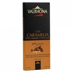 Caramélia 36% milk chocolate with hints of caramel and crunchy pearls bar 85 g