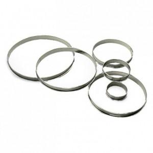 Tart ring stainless steel H20 Ø80 mm