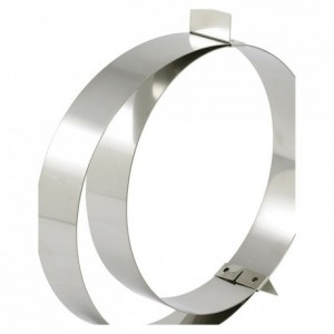 Adjustable ring mousse stainless steel Ø 180 to 360 mm