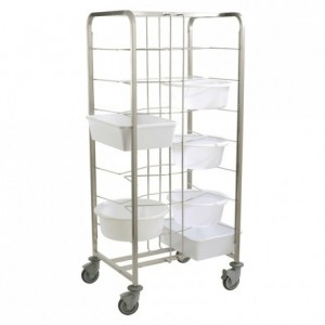 Dough container trolley 790 x 590 x 1790 mm