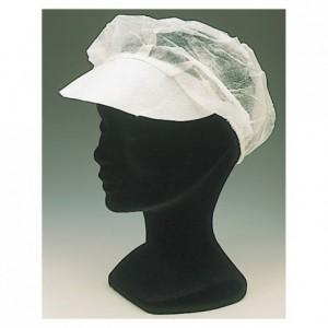Bouffant cap - peaked hat (100 pcs)