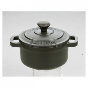 Mini round casserole dish with lid cast iron noir Le Chasseur Ø 100 mm