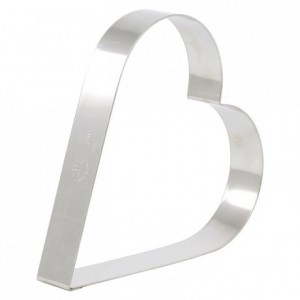 Heart cake ring stainless steel 200 x 35 mm